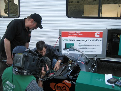 David Pogue in the pits